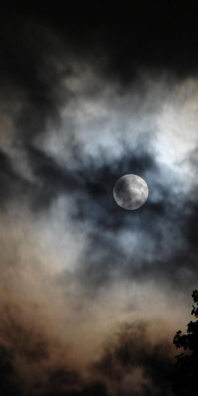 Full moon during Hurricane Ike