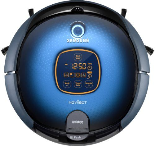 Samsung SR8855 NaviBot Robotic Vacuum Cleaner Autonomous Robot Vacuum Cleaner with a Mirror Blue Finish Can be Remote Controlled Intergrated HEPA Filter with 0.6 Litre