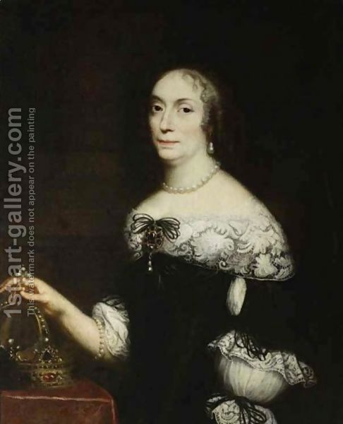 Daniel Schultz:Portrait of the Queen of Poland Marie Louise Gonzaga de Nevers