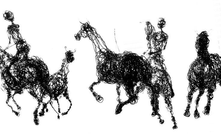 Riders. S.Tarnanen, 2017, iron wire.