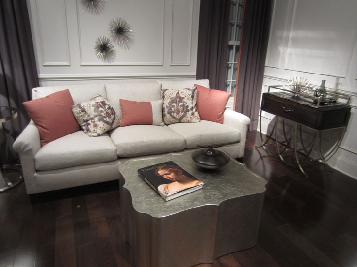 Tufted Sofa Love this sectional in this living room Living Room Inspiration Pinterest Living rooms Room and Basements