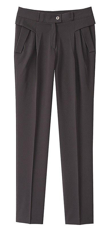 Классические брюки с боковыми широкими карманами
