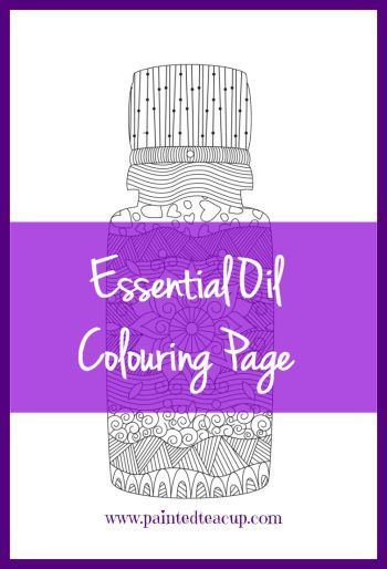 Essential Oil Colouring Page to Help You Relax & Unwind