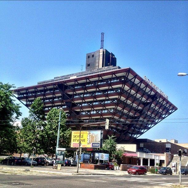 Slovenský rozhlas Building in Bratislava, Slovakia