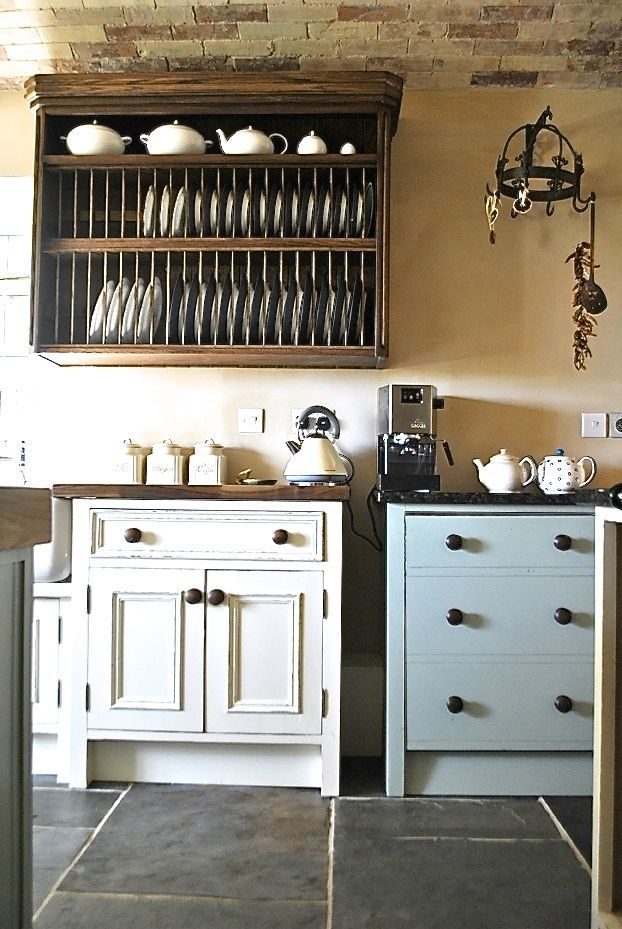 Grey and cream country kitchen