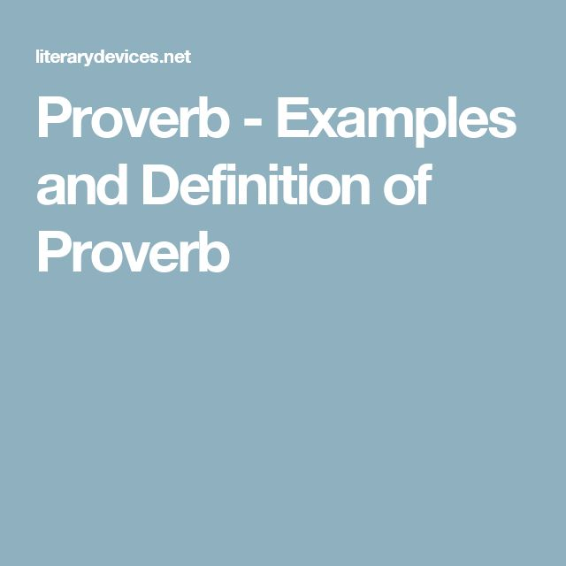 Proverb - Examples and Definition of Proverb