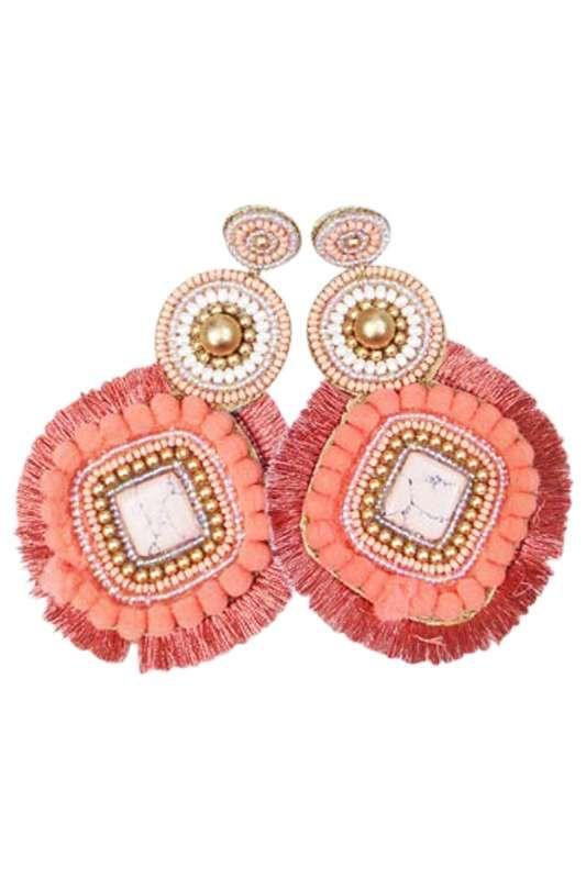 Eb & Ive - Ra Ra Earring Coral