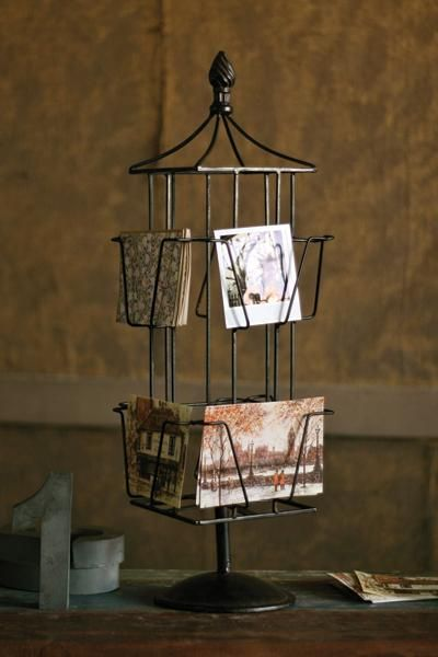 wire postcard rack  stylish way to display cards and
