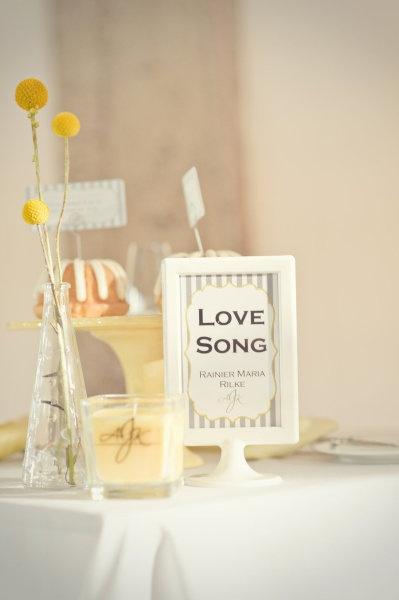 Thème de table : musique #thème de table #mariage #love song
