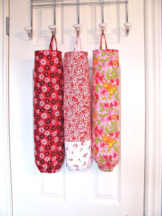 Plastic Bag Holder Paisley Fabric Grocery Bag Holder Bag