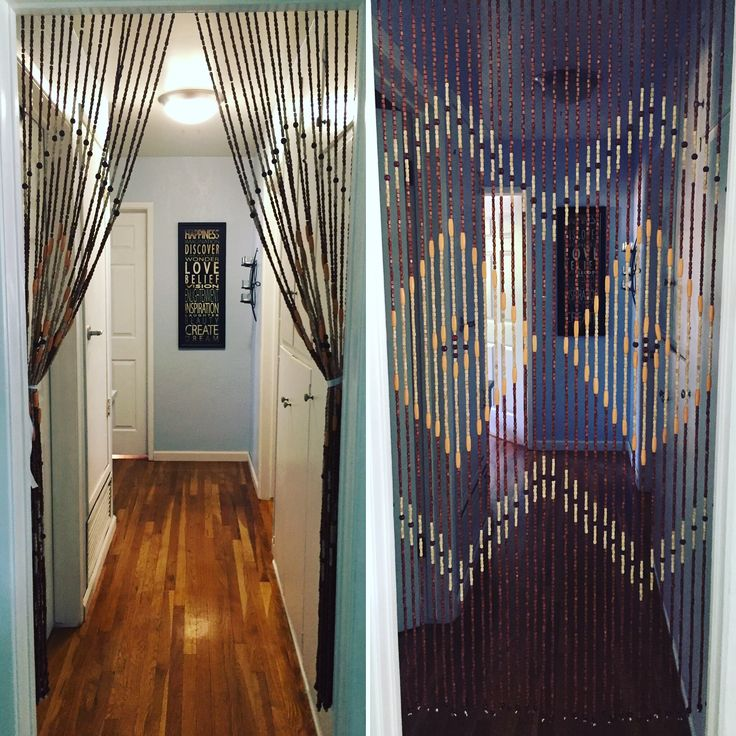 1960s Vintage Wood Door Curtain Available Boho Chic