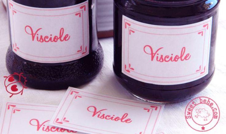 La ricetta per la marmellata di visciole ed amarene e le etichette da stampare