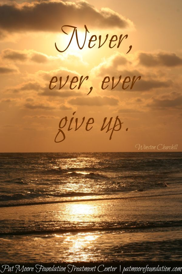 Winston Churchill Never, ever, ever give up