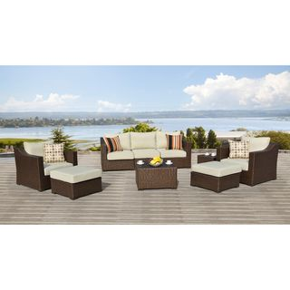 @Overstock.com - Matura Outdoor 9-piece Furniture Set - Add a touch of style and comfort to your patio with this Matura Outdoor 9-piece Furniture Set. This set features a brown resin wicker construction that is weather resistant and UV protected and comes with soft, comfortable cushions.    http://www.overstock.com/Home-Garden/Matura-Outdoor-9-piece-Furniture-Set/7873004/product.html?CID=214117  $2,149.99