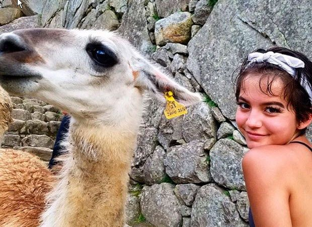 Hollywood's Isabela Moner, the breakout star of Transformers: The Last Knight, explored the Inca Sanctuary, posting a slew of snapshots to her social media channels for her fans. She wrote on her Instagram that she was thrilled to rediscover her Peruvian roots after climbing to the summit of Machu Picchu Mountain.