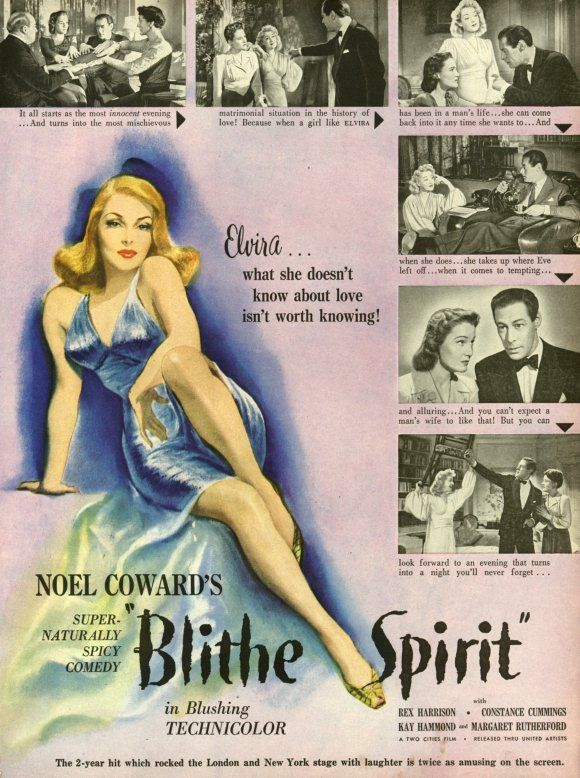 a comical review of blithe spirit by noel coward Brian bedford's production of noel coward's blithe spirit at the stratford festival is one more example of the highly successful theatrical m nage trois that's been forged between bedford, stratford and coward over the past 35 years.