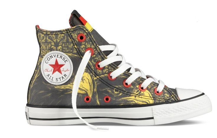 Olympic German flag inspired converse hi tops