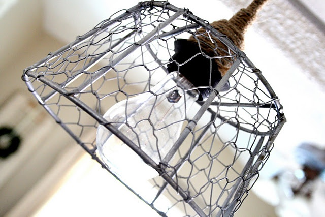 How to make a wire basket chandelier