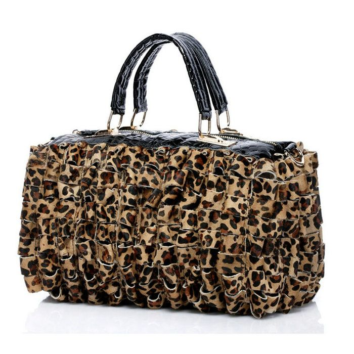 Leopardo de Outono/Inverno de 2014 imprimir saco de couro genuíno [VL10064]…