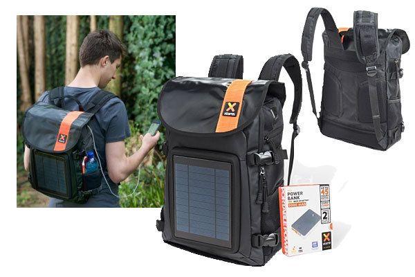 Se vuoi caricare il telefono con il solare ma pretendi di più di un normale caricabatterie questo fa per te! Zaino Xtorm da 4W