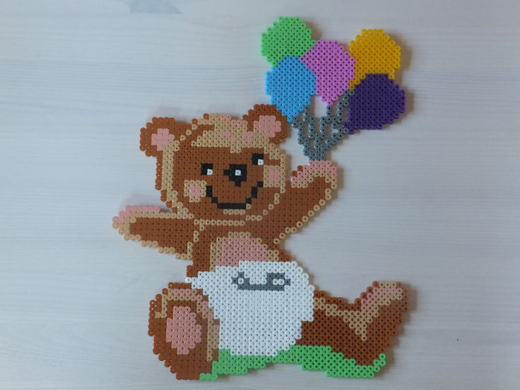 Baby teddy hama beads by Anja Iris