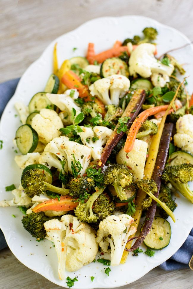 Do you sometimes feel over-fed, yet starving? This question is what made me think of my latest creation for my Herb-Roasted Beauty Veggies Recipe. It's packed with a...