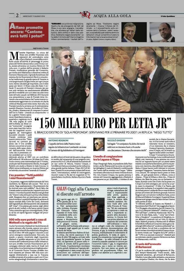 """""""150 MILA EURO PER LETTA JR"""""""