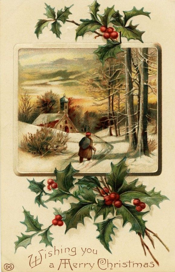Old Christmas Post Сards — (597x900)