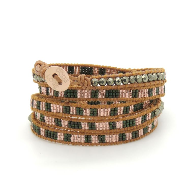 CODE LOVE 'FRIENDSHIP' Morse Code Seed Wrap Bracelet - This bracelet has been hand crafted using the finest quality seed beads bound onto leather and finished with a signature Code Love button. www.codelove.com.au