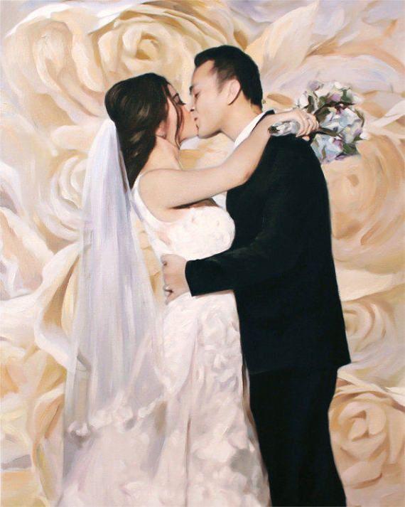 Custom Portrait #wedding gift idea #christmas gift idea #love on #etsy by AnastassiaArt