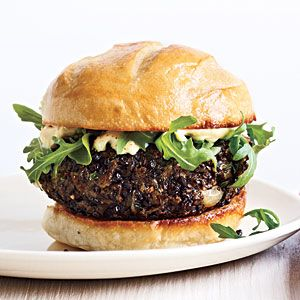 Mushroom Lentil Burgers Recipe