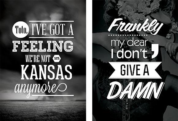 Typographic Posters - Daisy Swain - Graphic Design