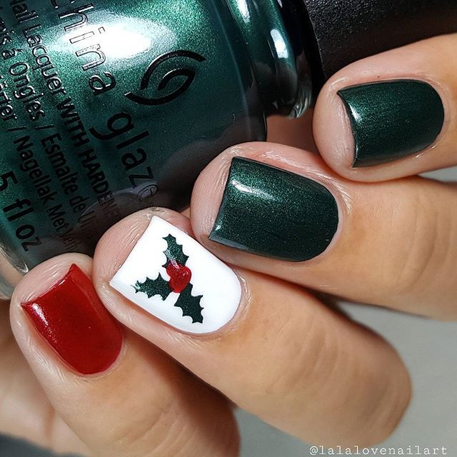 1421 mejores imágenes de Christmas Nails en Pinterest   Arte de uñas ...