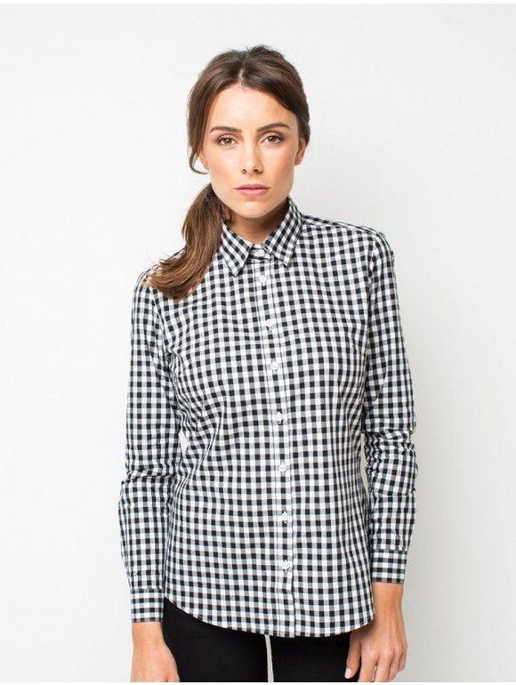 Women's Frankie Check Shirt -Black