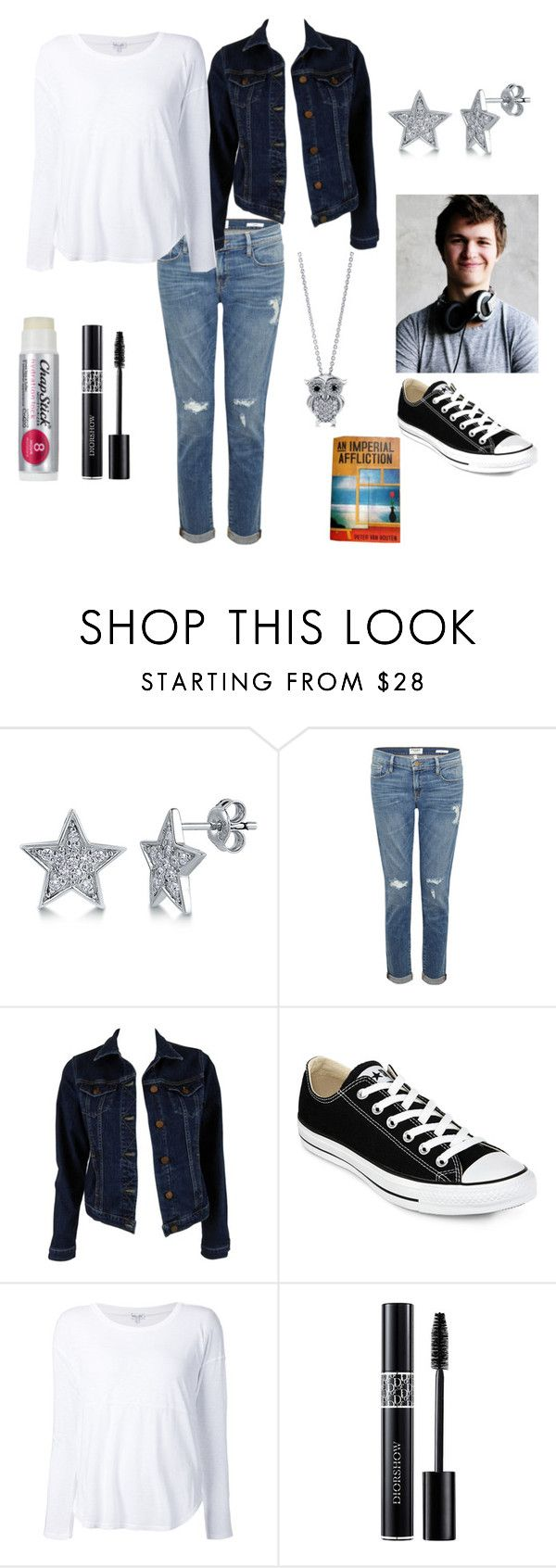 """Hazel Grace Lancaster Outfit"" by acciopotterbook ❤ liked on Polyvore featuring BERRICLE, Frame Denim, MiH Jeans, Converse, Splendid, Chapstick and Christian Dior"