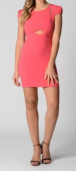 Hot Pink Cut-out Dress  $25  size 8, 10