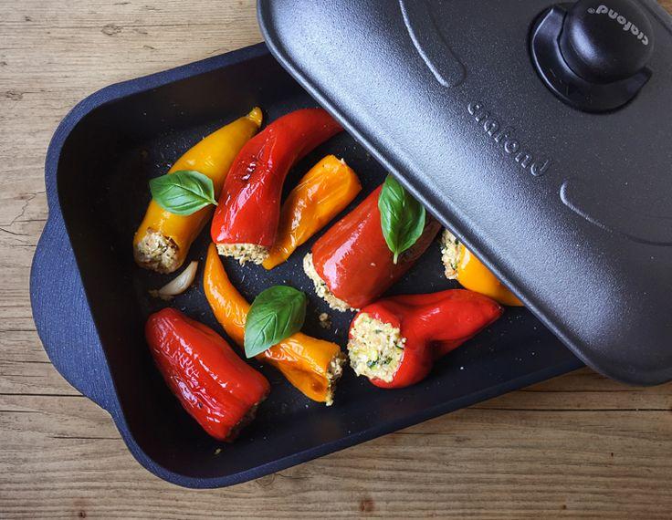 peperoni ripieni alle erbe aromatiche * Herb stuffed mini peppers #vegan #crafond