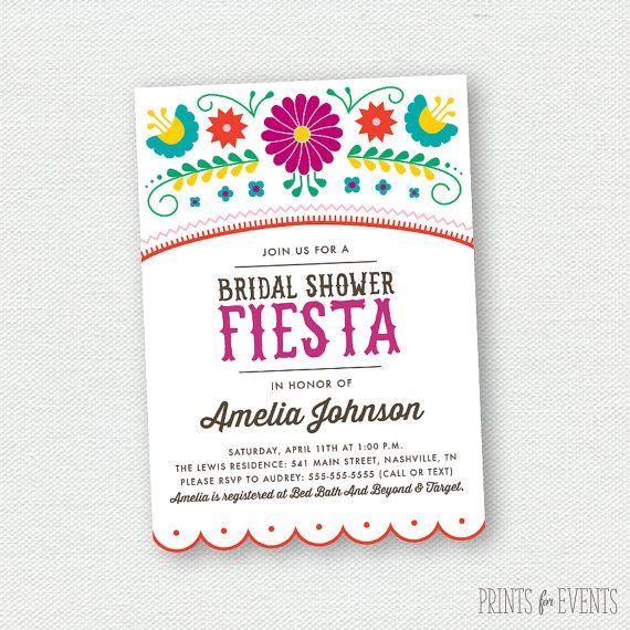 Printable fiesta bridal shower invitations mexican for Best bridal shower invitations