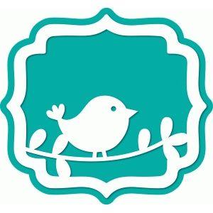 Silhouette Design Store - View Design #64169: bird bracket label