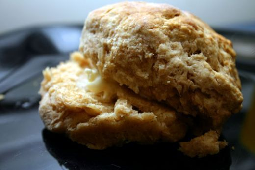 """Appalachian """"cat head"""" biscuit recipe. So called because they're the size of a cat's head."""