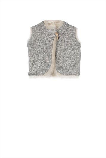 Reversible Knit Vest