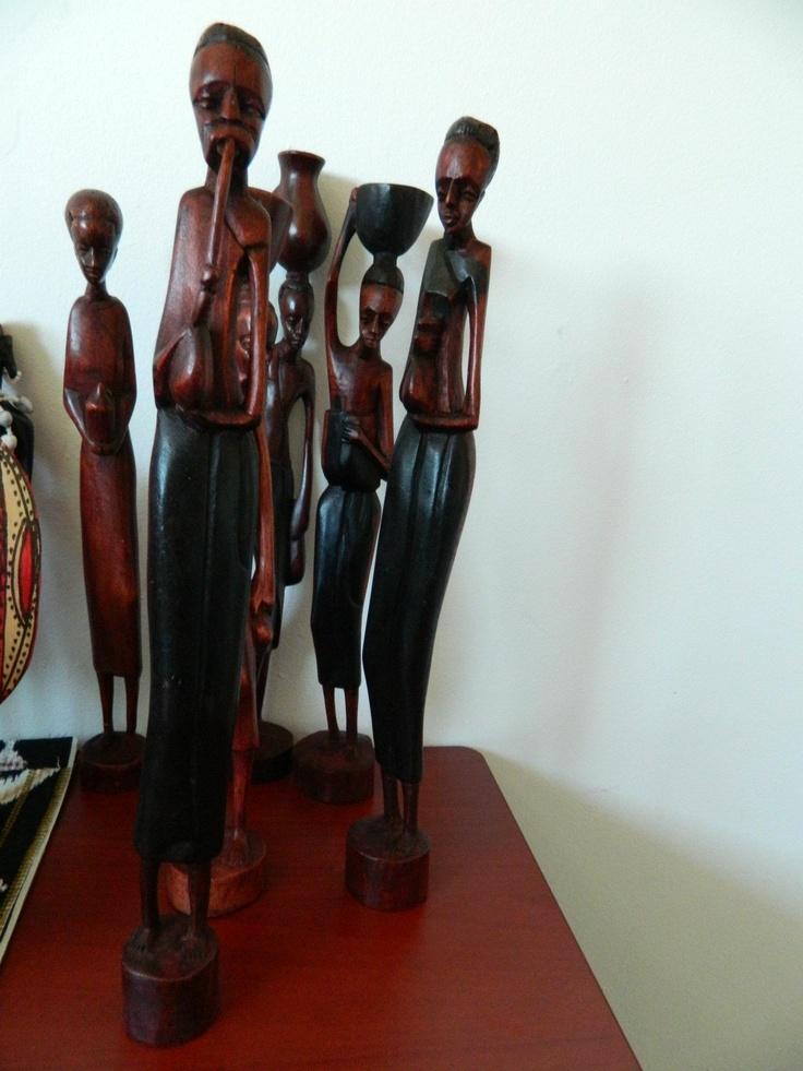 wooden carvings (36cm) $22