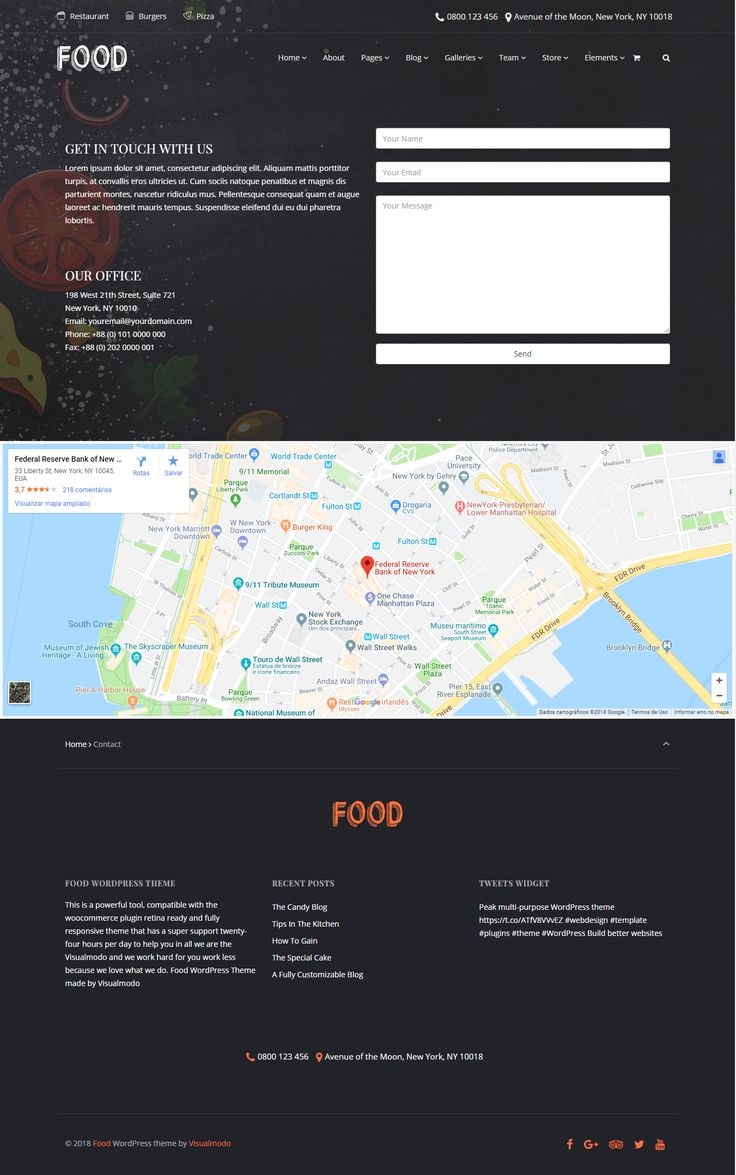 Food WordPress Theme - Restaurant, Pub & Bar Template - Build every restaurant site design without code knowledge - A Delicious Restaurant & Candy Shop Theme https://visualmodo.com/theme/food-wordpress-theme/ 🍔🍿🍰🍷🍴 #webdesign #HTML5 #CSS3 #template #plugins #theme #wordpress #food #responsive #restaurant #pub #bar #candy #flexible #pizza #chef Build your own food website and grow your brand!