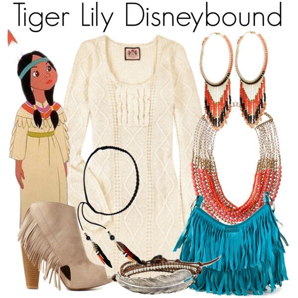 """""""Tiger Lily Disneybound"""" by capamericagirl21 on Polyvore"""