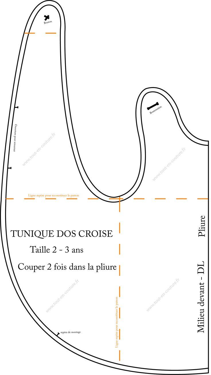 TOUT EN COUTURE tunique dos croisé Patron couture