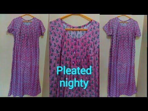 b89c87dcf6 Pleated nighty cutting and stitching malayalam - YouTube