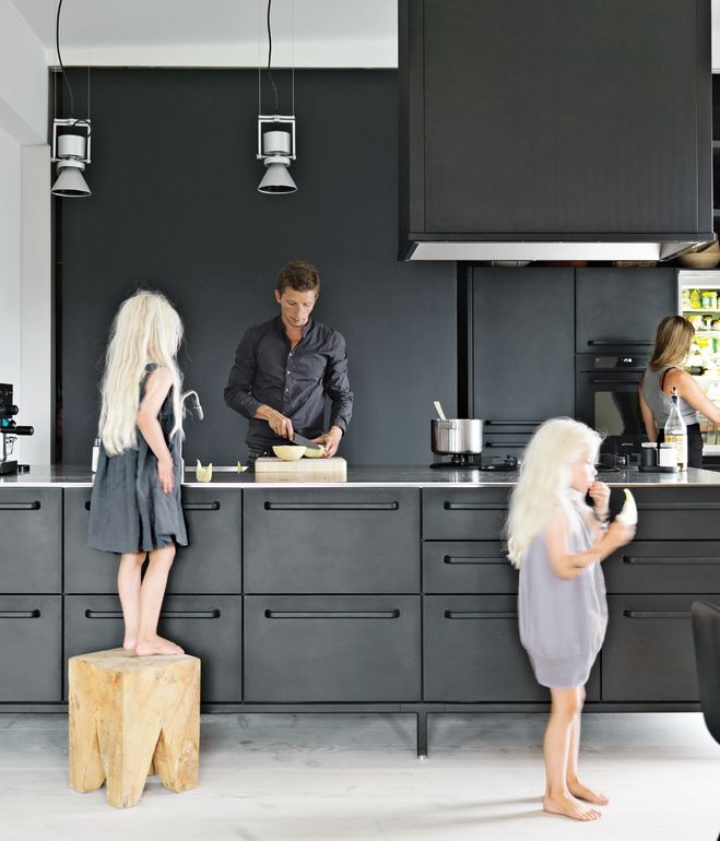 Inspirende køkken..sort er slet ikke så farligt