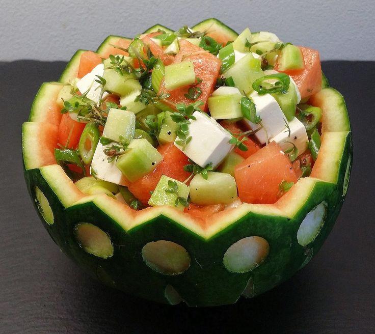 salat i melonskål