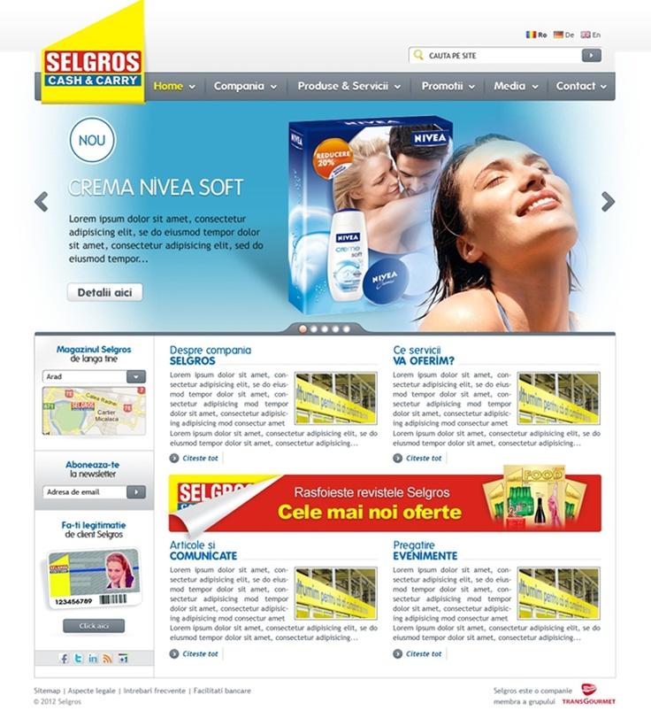 Pagina companiei Selgros Romania