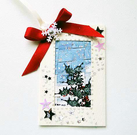 Luxury Handmade Winter Scene  Gift Tag 05